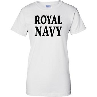Royal Navy - Word - Ladies T Shirt
