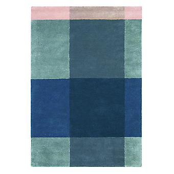 Plaid grau geometrische Wolle Teppich-Ted Baker 57805