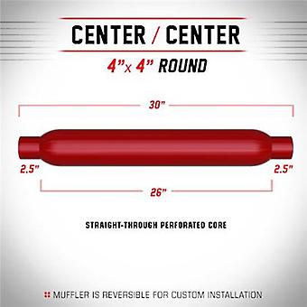 MagnaFlow Universal Muffler - Glass Pack 13146 Red Coated Fits:UNIVERSAL 0 - 0