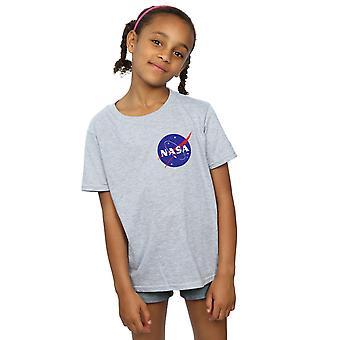 La NASA niñas clásica Insignia pecho Logo t-shirt