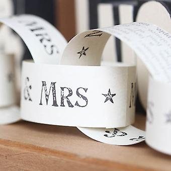 East of India Mr & Mrs Wedding Paper Chains 3m
