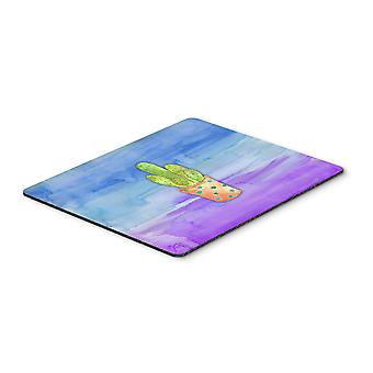 Cactus Blue and Purple Watercolor Mouse Pad, Hot Pad or Trivet