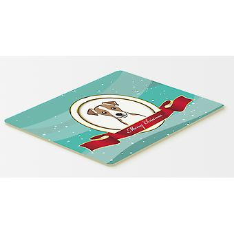 Jack Russell Terrier Merry Christmas Kitchen or Bath Mat 20x30