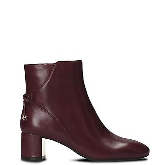 Tory Burch women's 40289500 Burgundy leather ankle boots
