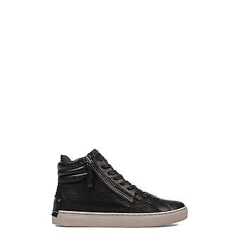 Crime London Damen 25322A17B20 Schwarz Leder Hi Top Sneakers