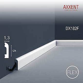 Deur surround ORAC decor AXXENT CASCADE van DX182F wit 2 m flexibele plint bar moderne wanddecoratie