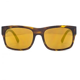 Dragon Tailback Sunglasses In Matte Tortoiseshell Gold