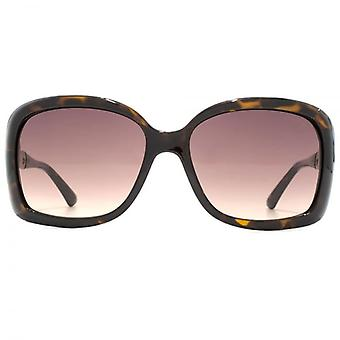 Guess G Chain Temple Square Sunglasses In Dark Havana