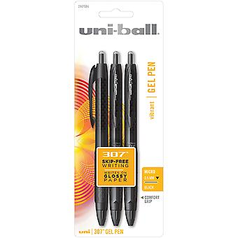 307 intrekbare Gel Pen .5mm 3/Pkg-Micro Black 1947-084