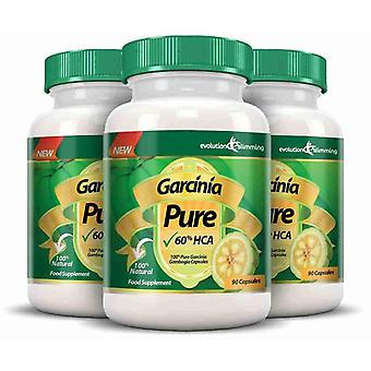 Garcinia Pure 100% Pure Garcinia Cambogia 1000mg 60% HCA - 3 Month Supply - Fat Burner and Appetite Control - Evolution Slimming