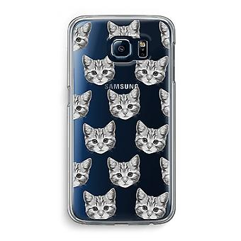 Samsung Galaxy S6 Transparent Case (Soft) - Kitten