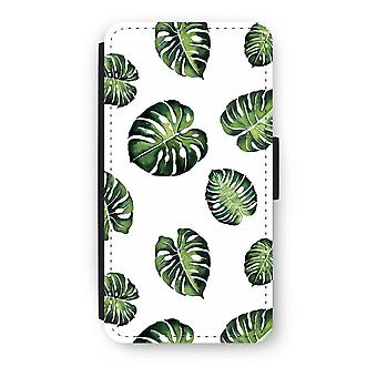 iPod Touch 6 Flip Case - Tropical leaves
