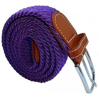 Bassin and Brown Plain Elasticated Woven Belt - Purple