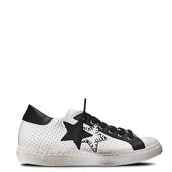 2Star ladies 2S1823BIANNERO white/black leather of sneakers