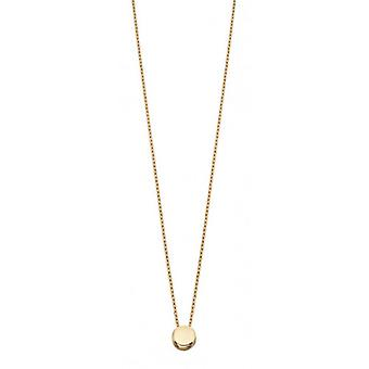 Elements Gold Plain Disc Necklace - Gold