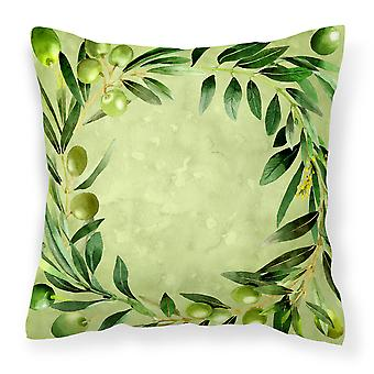 Carolines Treasures  CK1702PW1414 Olives Fabric Decorative Pillow