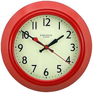 Roger Lascelles Metal Clock Red LONLARC