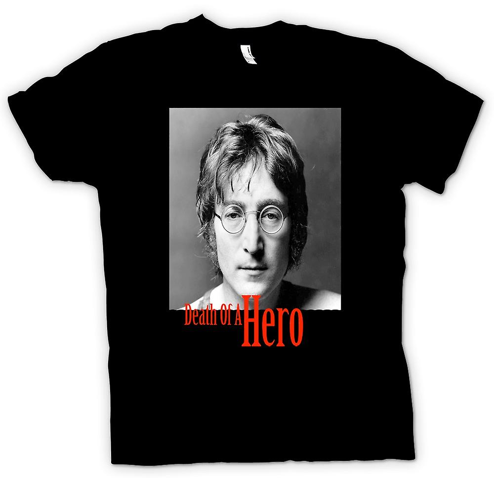 Mens T-shirt - John Lennon - Death Of Hero