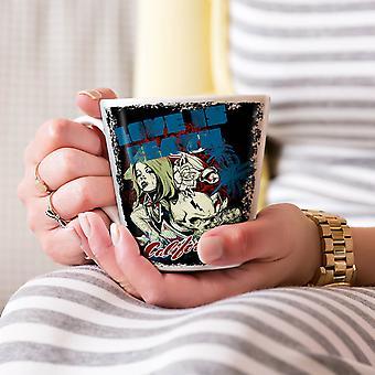 Liefde Is dood Californië nieuwe witte thee koffie keramische Latte Mok 17 oz | Wellcoda