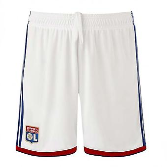 2018-2019 Olympique Lyon Adidas Home Shorts (White) - Kids