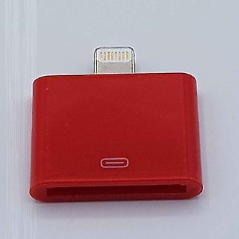 30 Pin Naar Lightning compatible (8 Pin) Kabel Adapter - Voor Ipad / iPhone - Rood