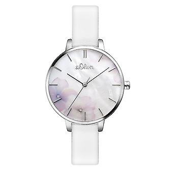 s.Oliver women's watch wristwatch leather SO-3522-LQ