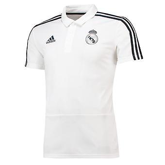 2018-2019 Real Madrid Adidas Poloshirt (weiss)