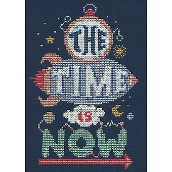 Time Is Now Mini Counted Cross Stitch Kit-5