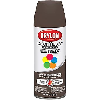 Colormaster Indoor/Outdoor Aerosol Paint 12Oz-Leather Brown Satin