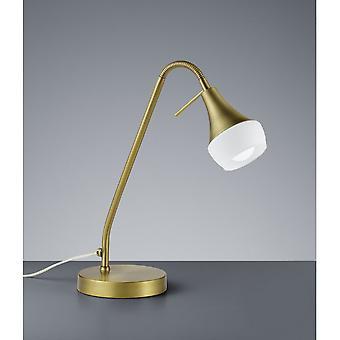 Trio Lighting Trumpet Modern Old Brass Metal Table Lamp