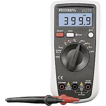 VOLTCRAFT VC175 mano Multímetro Digital calibrado: las normas del fabricante (no certificado) CAT III 600 V Disp