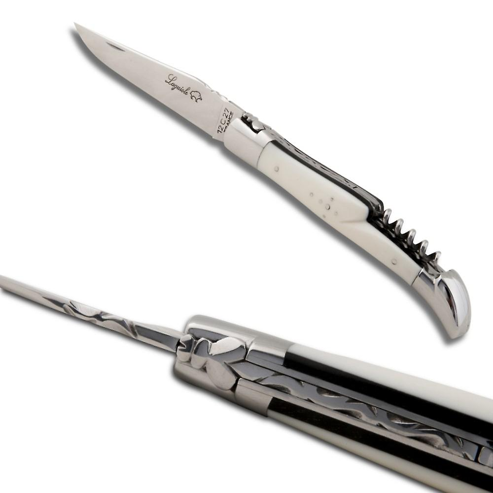 Laguiole knife with Ebony and Izmir handle, corkscrew Direct from France