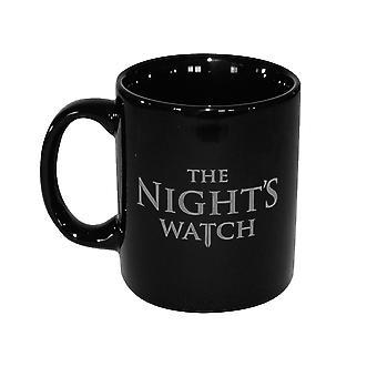 Spel van tronen Cup nachten horloge - de eed-zwart gedrukte, keramische, capaciteit ca. 350 ml., in geschenkverpakking.