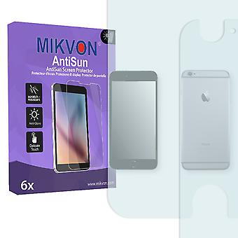 Apple iPhone 6 Plus Screen Protector - Mikvon AntiSun (Retail Package with accessories) (1x FRONT / 1x BACK) (reduced foil)