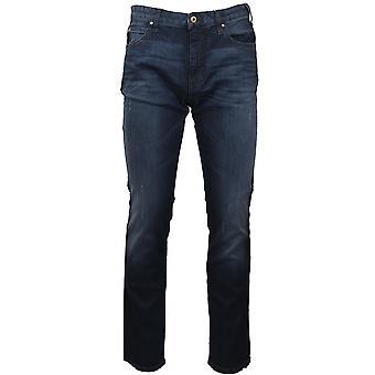 Emporio Armani Emporio Armani J45 Slim Fit agobiados Jean azul