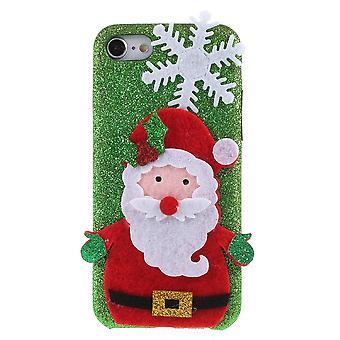 iPhone 7/iPhone 8 Shell in harten Kunststoff Weihnachten Themen-grün/Santa Klausel