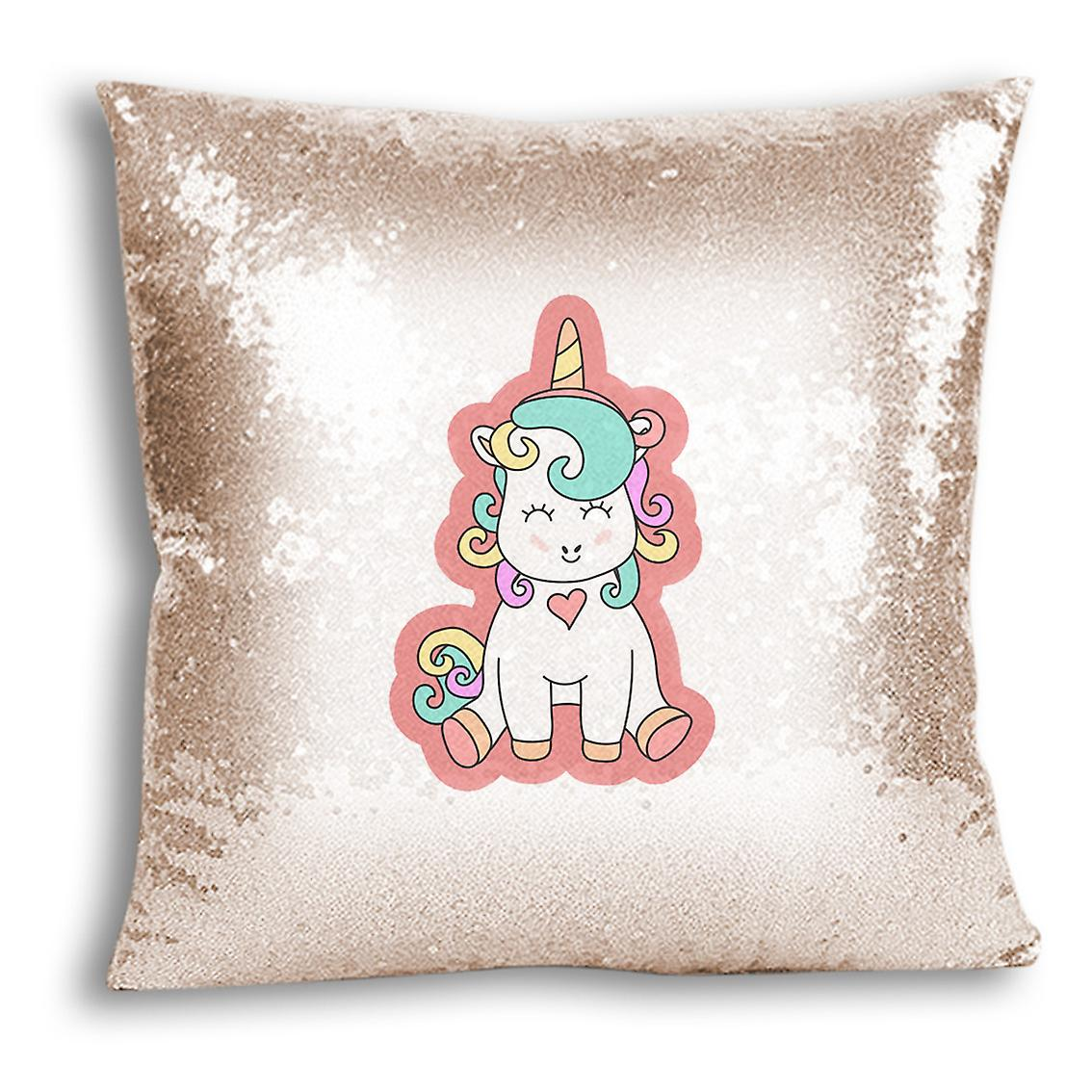 CushionPillow Champagne Decor 19 Printed Home I Cover For Sequin Design tronixsUnicorn 08nOkwP