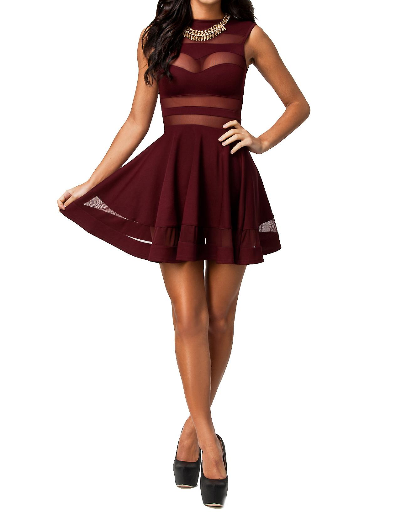 Waooh - Fashion - openwork Skater Dress