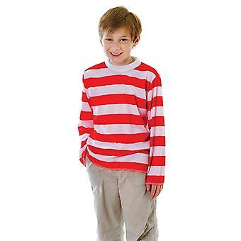 Red/White Striped Top, Medium.
