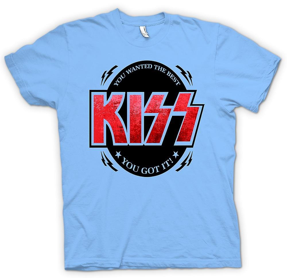 Mens T-shirt - Kiss - You Wanted The Best