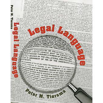 Linguagem jurídica (2) por Peter M. Tiersma - 9780226803036 livro
