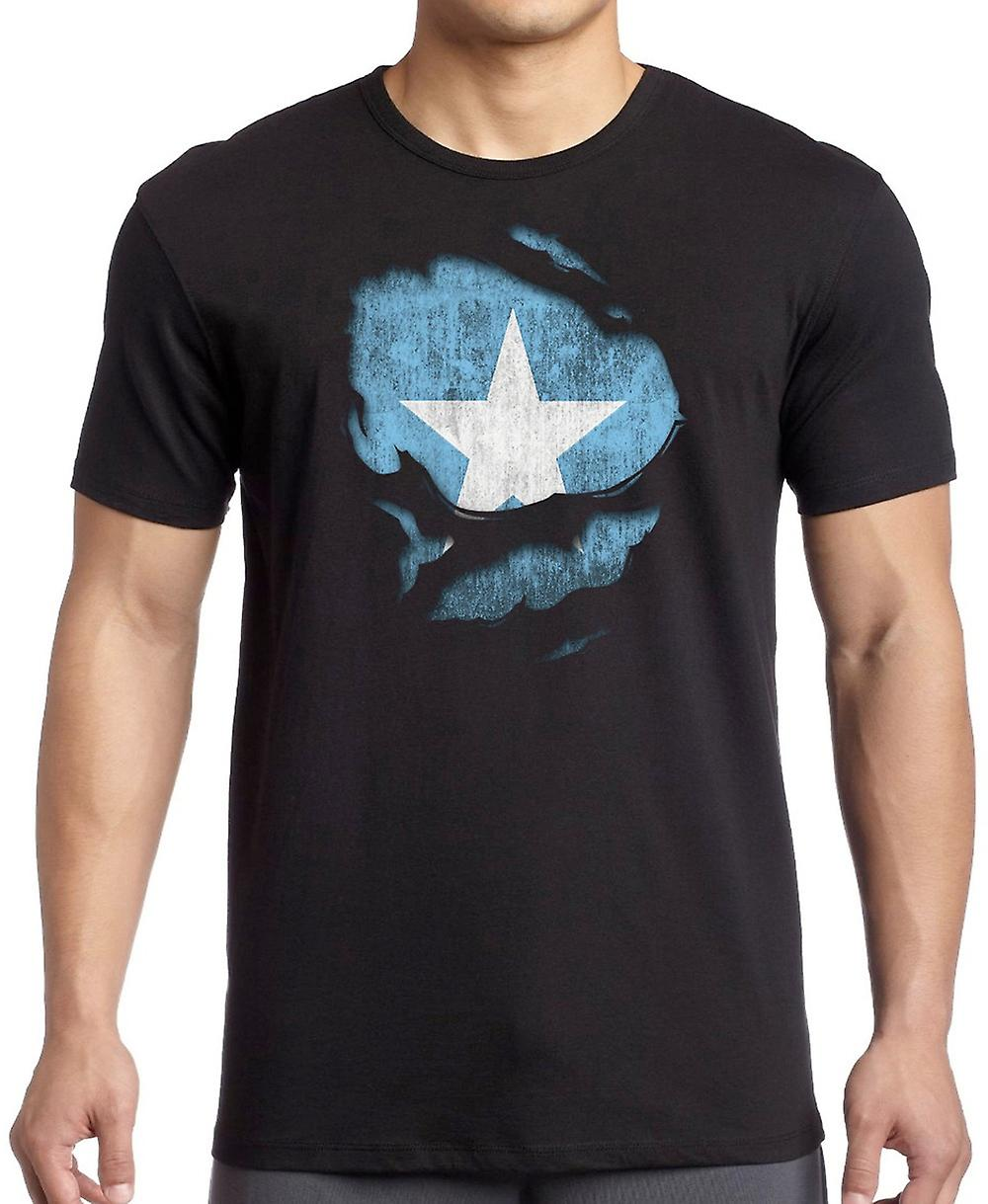 Somalia Ripped Effect Under Shirt T Shirt
