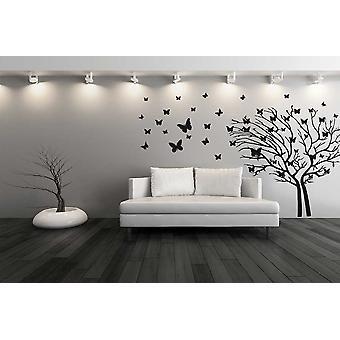 Wandtattoo Schmetterling Baum