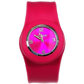 Slap On Quartz Movement Pink Dial Ladies Watch SW-007