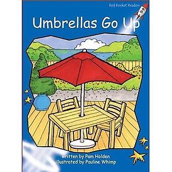 Umbrellas Go Up (Red Rocket Readers)