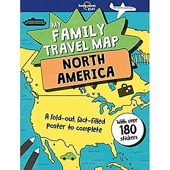 Family Travel Map - North America, My (Lonely Planet Kids)