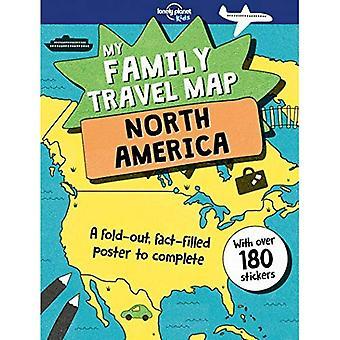 Carte voyage famille - Amérique du Nord, mon (Lonely Planet Kids)