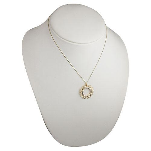 9ct Gold 29mm Half Sovereign mount with a diamond cut Bezel Pendant with a curb chain