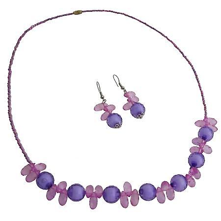 Holiday Gift Flower Girls Return Gift Purple Jewelry