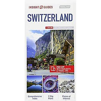 Insight Guides Travel Map Switzerland (Insight Travel Maps)